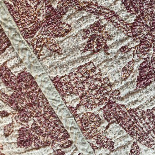 Плед из льна Серенада умягченный Бордо 2
