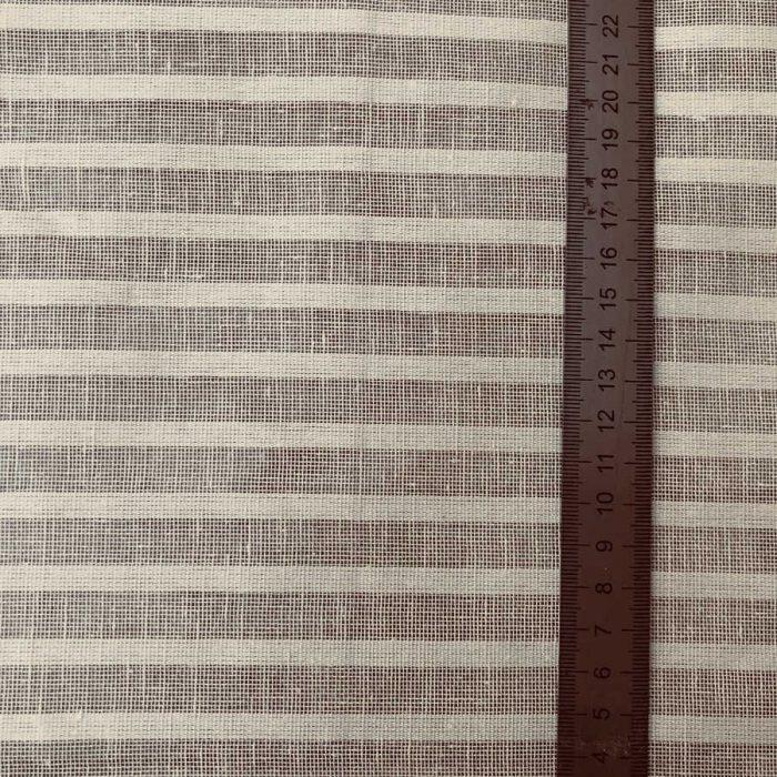 Ткань для тюля из льна - Кофейная Карамель 2