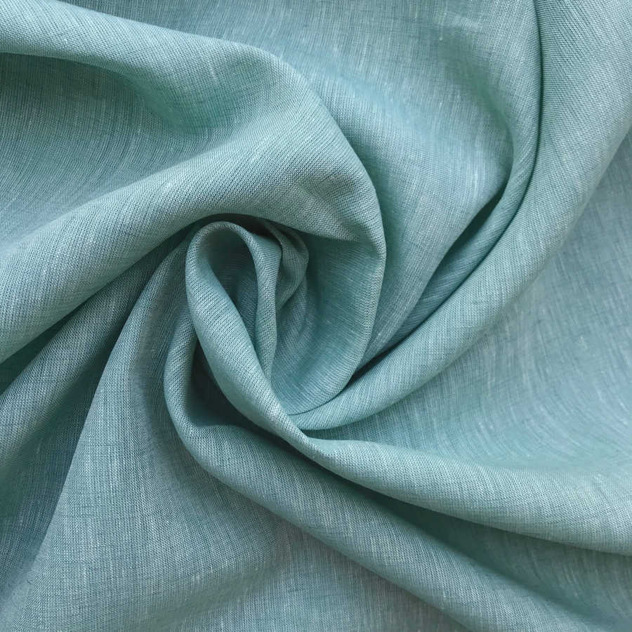 Льняные ткани - 100% Льняная ткань Мята