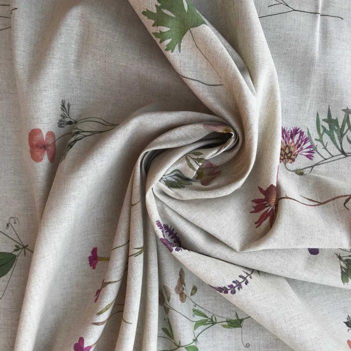 Льняные ткани - Льняная ткань Цветной Прованс