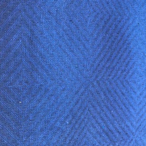Льняная ткань декоративная Синяя