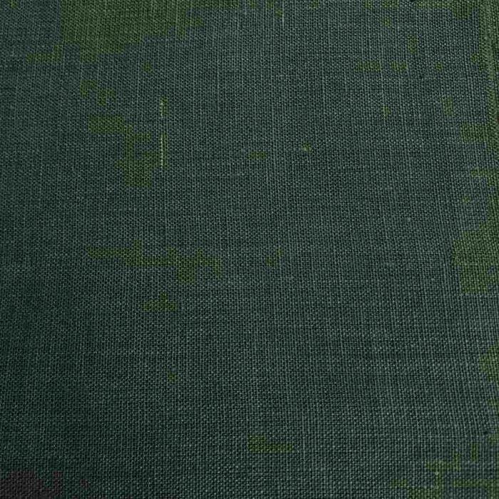 Льняная ткань Темно-Оливкового цвета