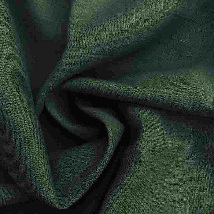 Ткань изо льна Темно-Оливковая