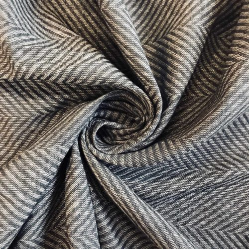 Льняные ткани - 100% Льняная декоративная ткань Серый Твид 1