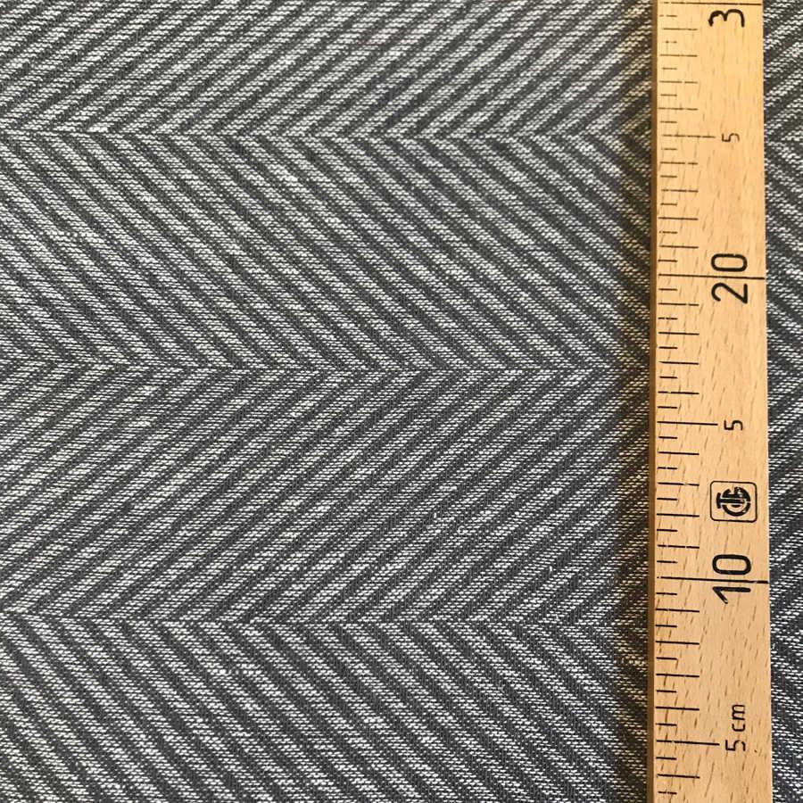 100% Льняная декоративная ткань Серый Твид 2