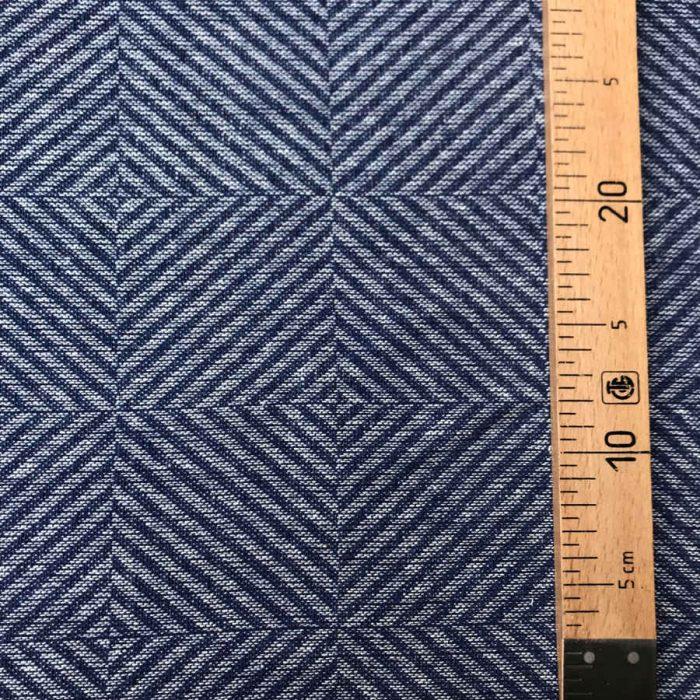 100% Льняная декоративная ткань Синий Рубчик 2