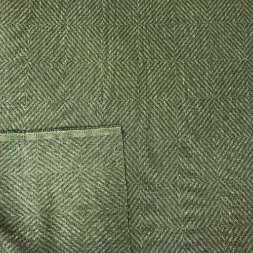 100% Льняная ткань декоративная Оливковая 2