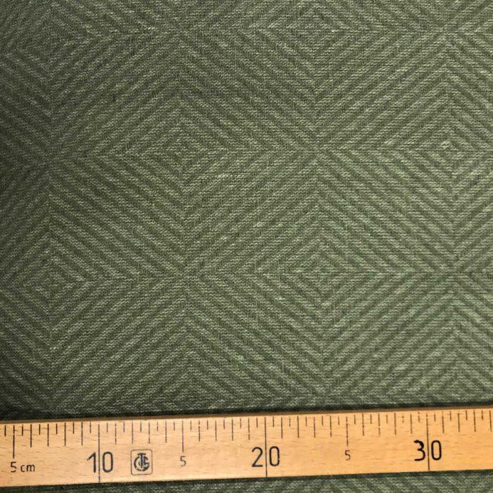 100% Льняная ткань декоративная Оливковая 3