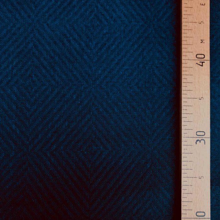 Льняная декоративная ткань для штор Темно-Синий Твид 2