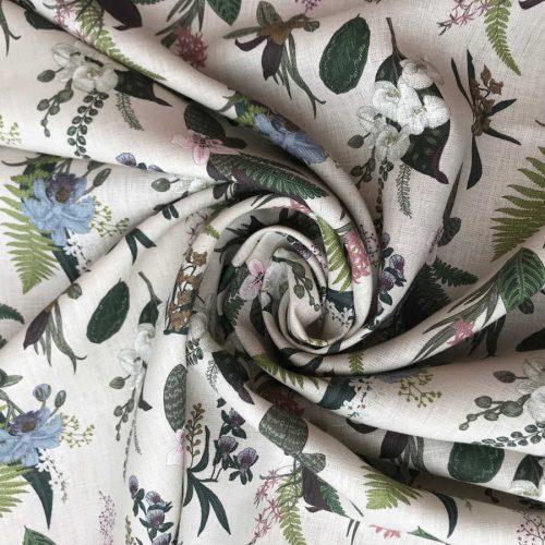 Льняные ткани - Ткань Гербарий 1