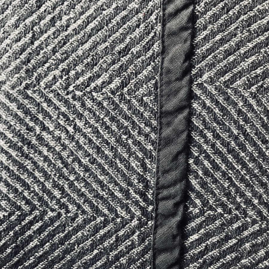 Льняной плед Графитовый твид 3