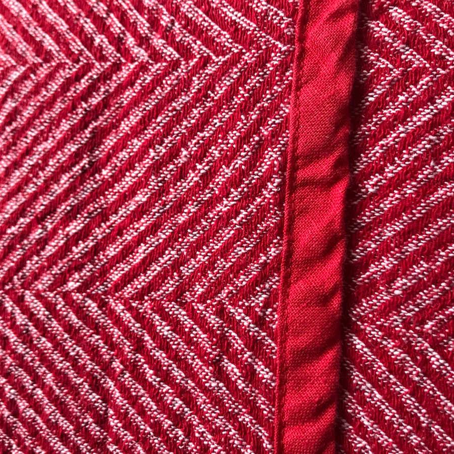 Льняной плед Розовый твид 2