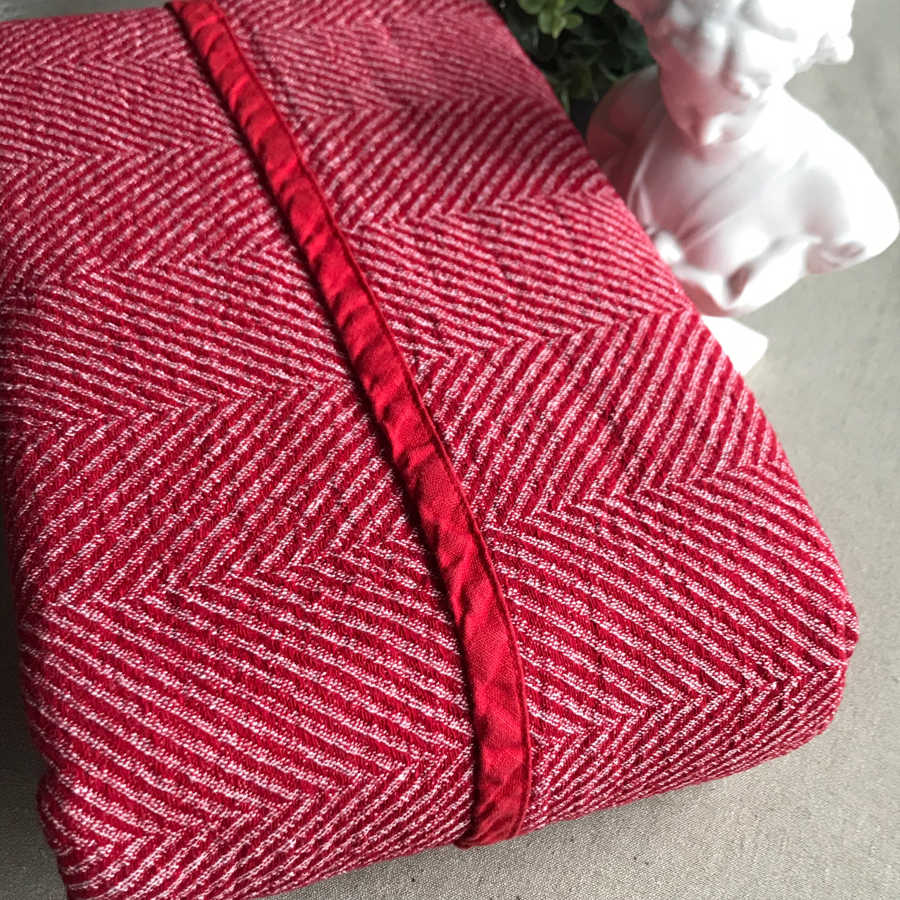 Льняной плед Розовый твид 3