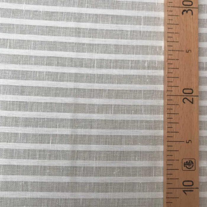 Ткань для тюля Белая в узкую полоску 1