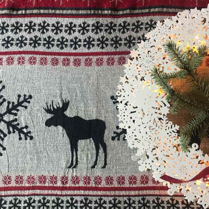 Новогодние подарки Плед из льна ЛапландияНовогодние подарки Плед из льна Лапландия
