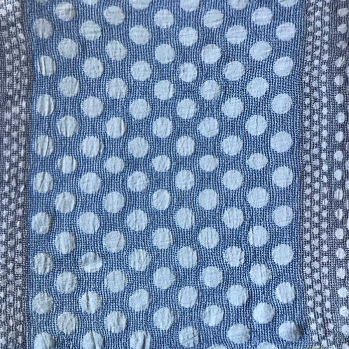 Полотенце банное из умягченного льна Синие Круги