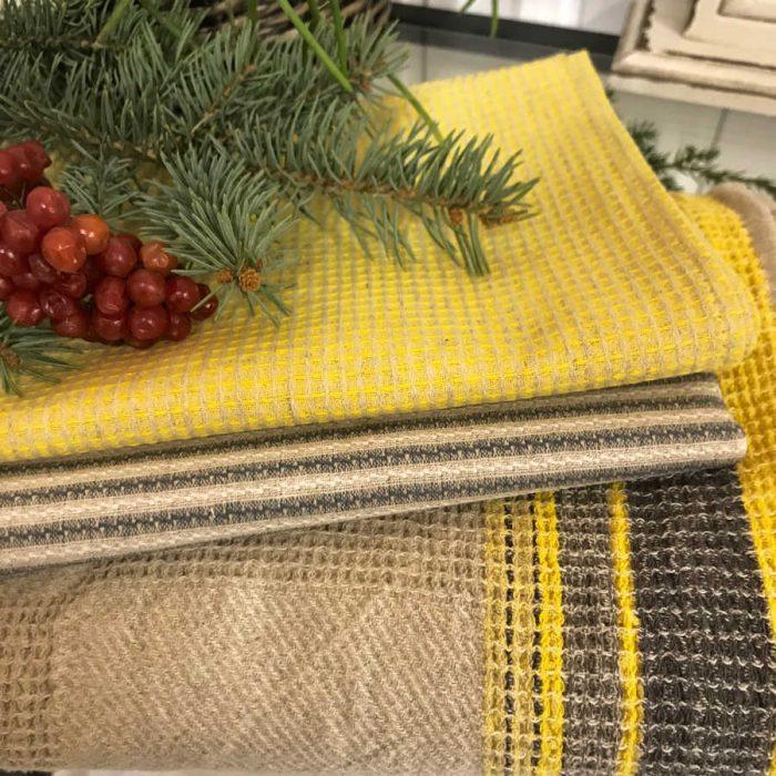 Полотенце кухонное из умягченного льна 1