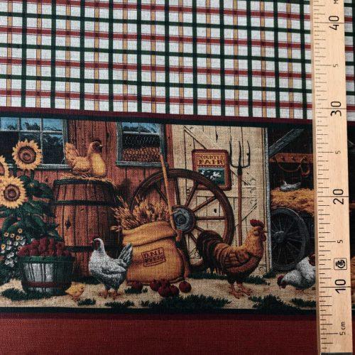 Скатертная ткань из льна Французский дворик