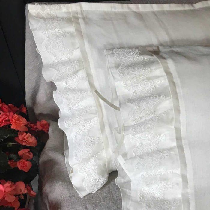 100% Льняной постельный комплект Подарочный 2
