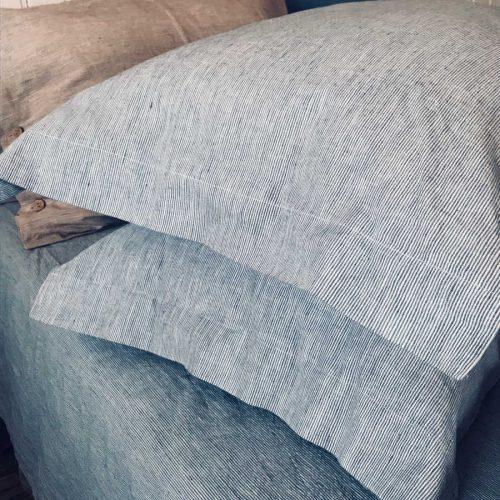 Льняной постельный комплект Голубой умягченный Орша 5