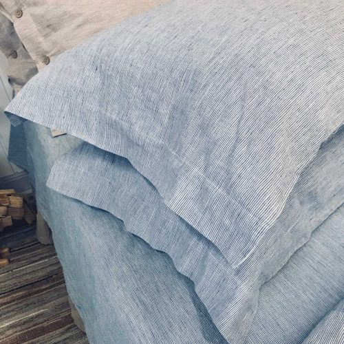 Льняной постельный комплект Голубой умягченный Орша 6