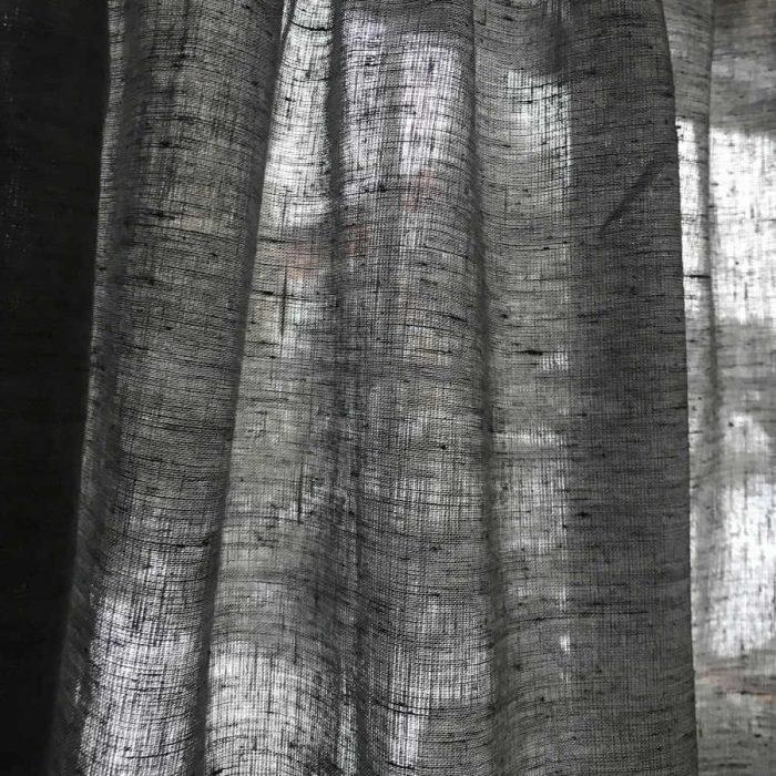 Шторная лента- шторы Черный Песок