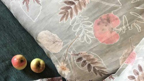 Льняное постельное белье - комплект Осень 2