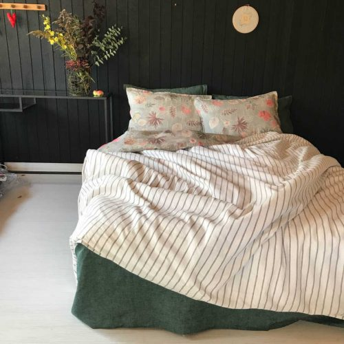 Льняное постельное белье - комплект Осень 3