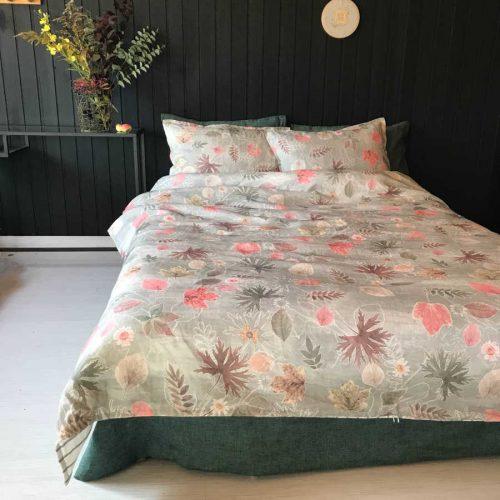 Льняное постельное белье - комплект Осень 5