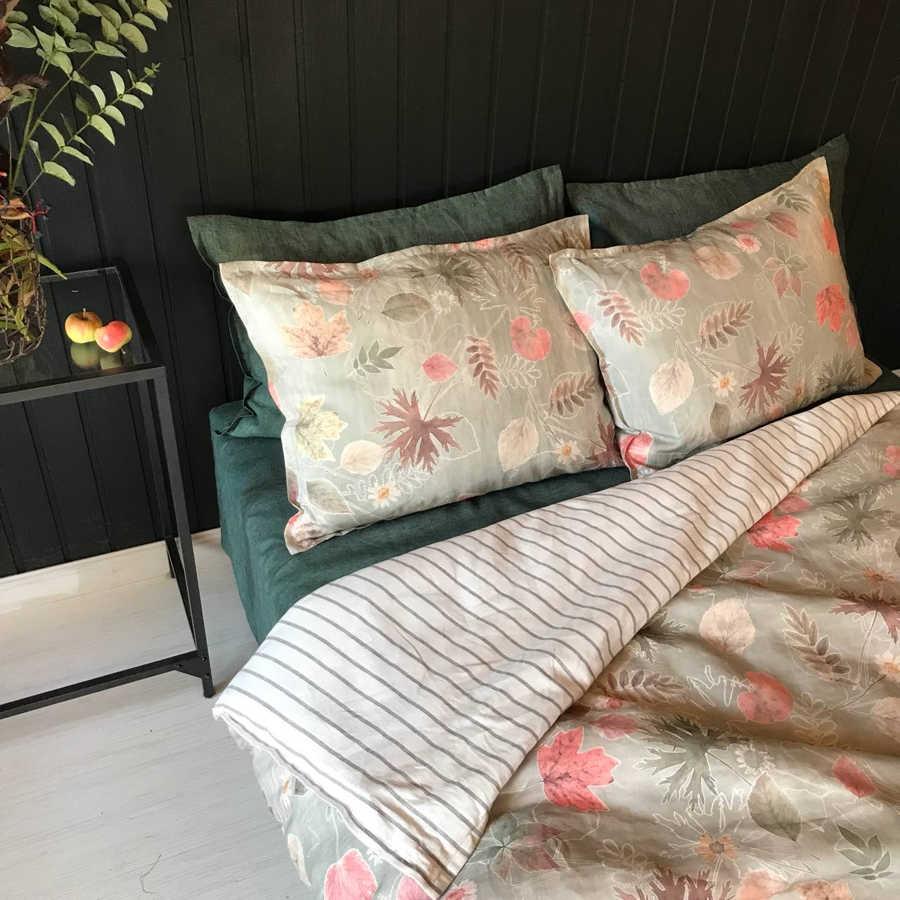 Льняное постельное белье - комплект Осень 6
