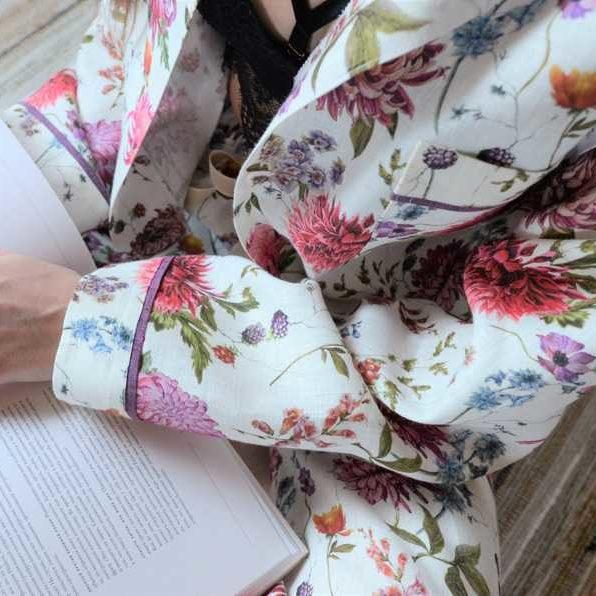 Льняная пижама Мирильда - ткань для пижамы