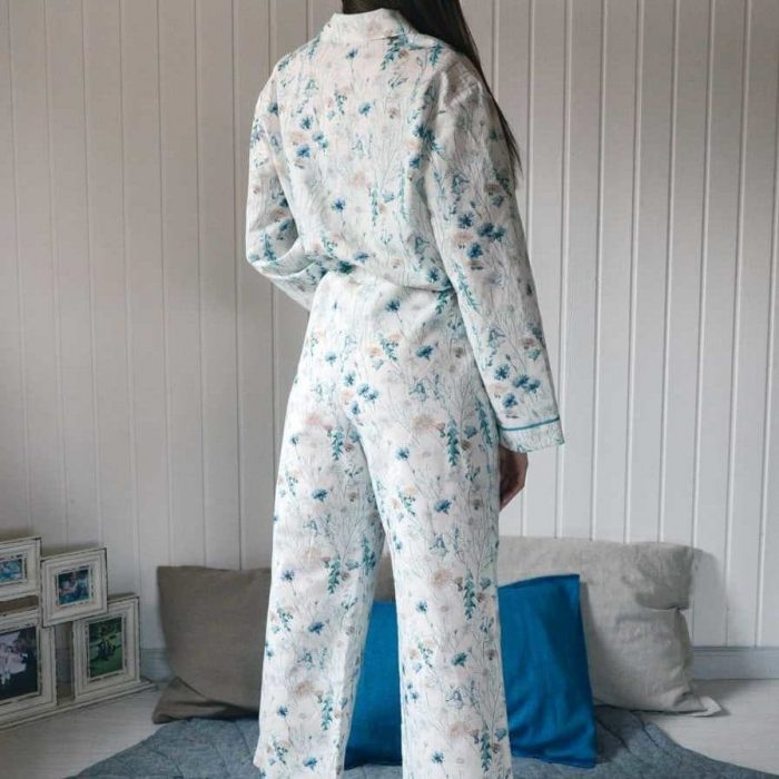 Льняная пижама Луговые Цветы - Ткани для пижам