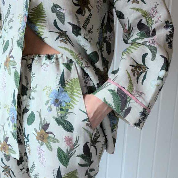 Льняная пижама Гербарий 4