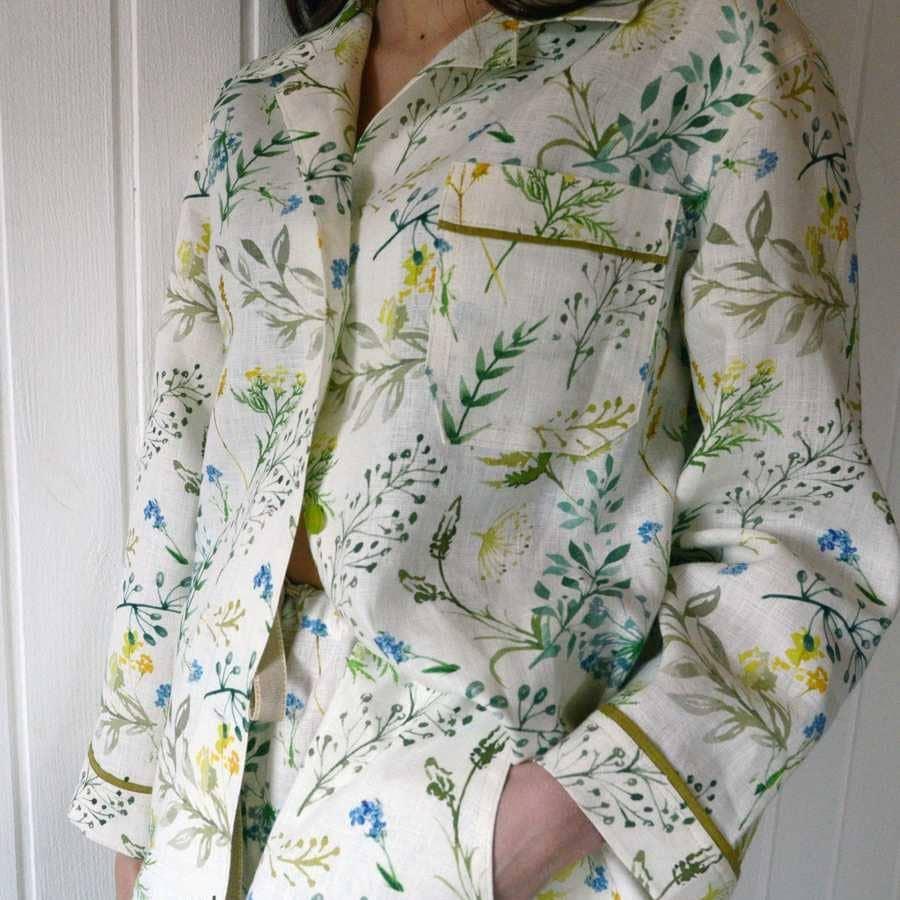 Льняная пижама Поляна - Ткань для пижамы из льна