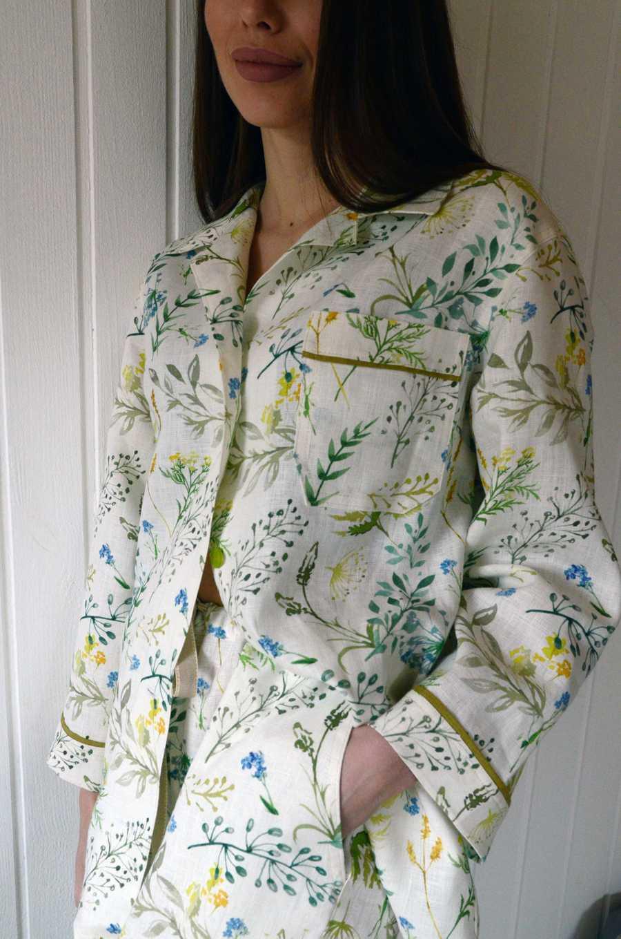 Льняная пижама Поляна 6