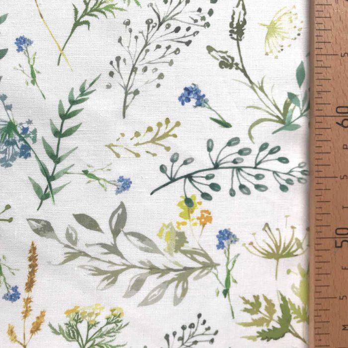 Льняная ткань Поляна 1