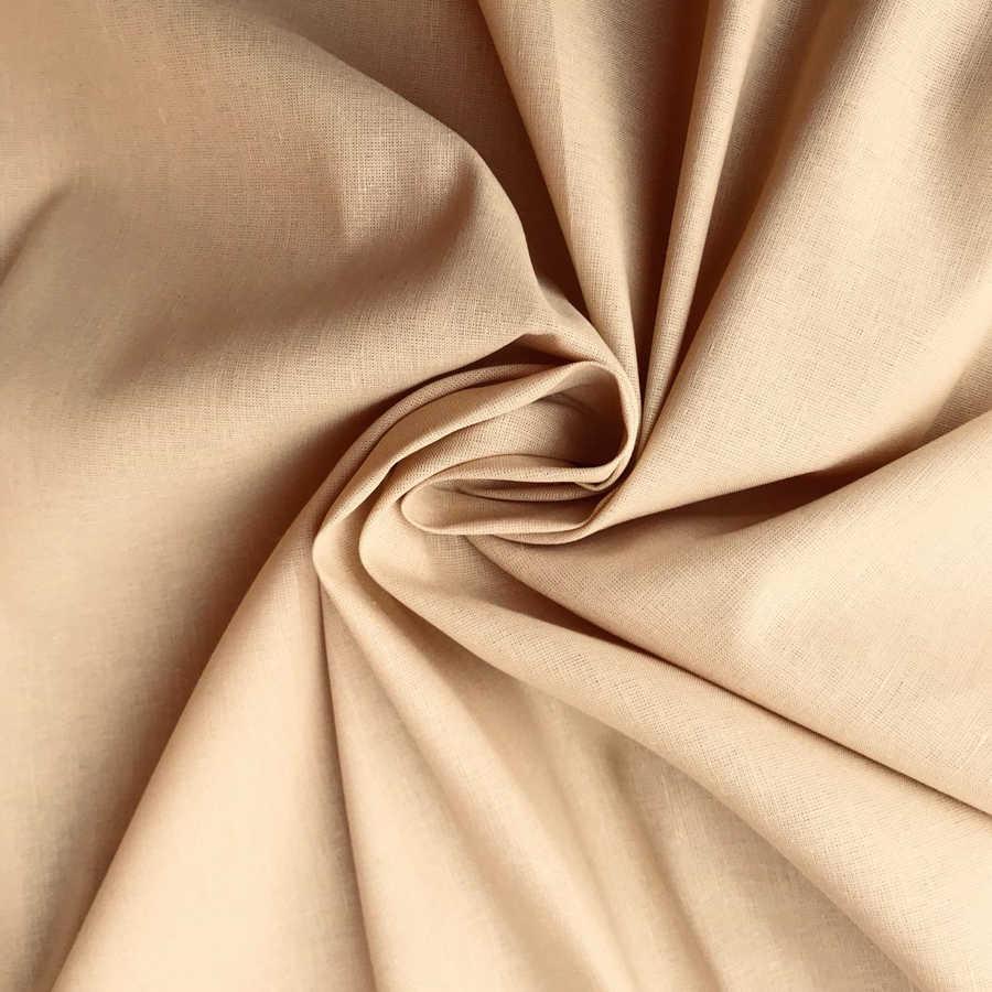 Льняная ткань Теплый Песок