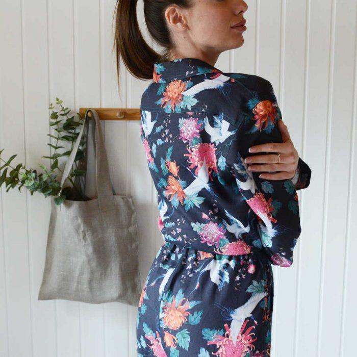 Пижама из льна - ткани для пижам Белый Аист