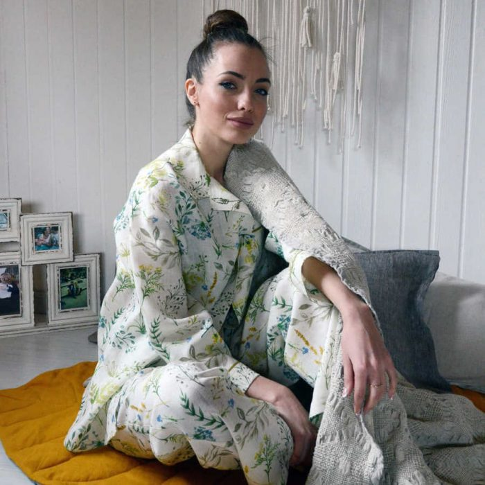Пижама из льна Поляна