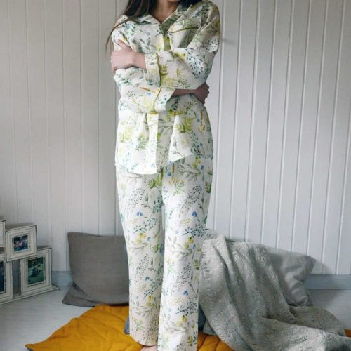 Пижама льняная Поляна 2