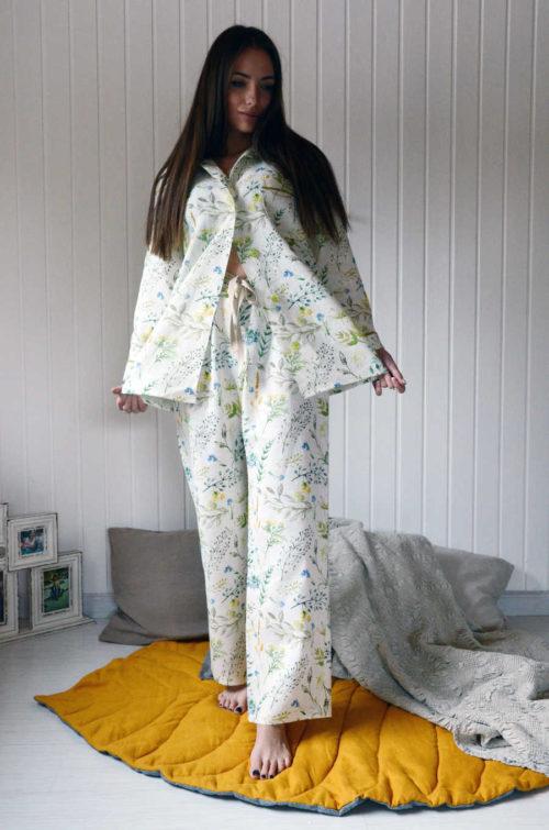 Пижама льняная Поляна 3