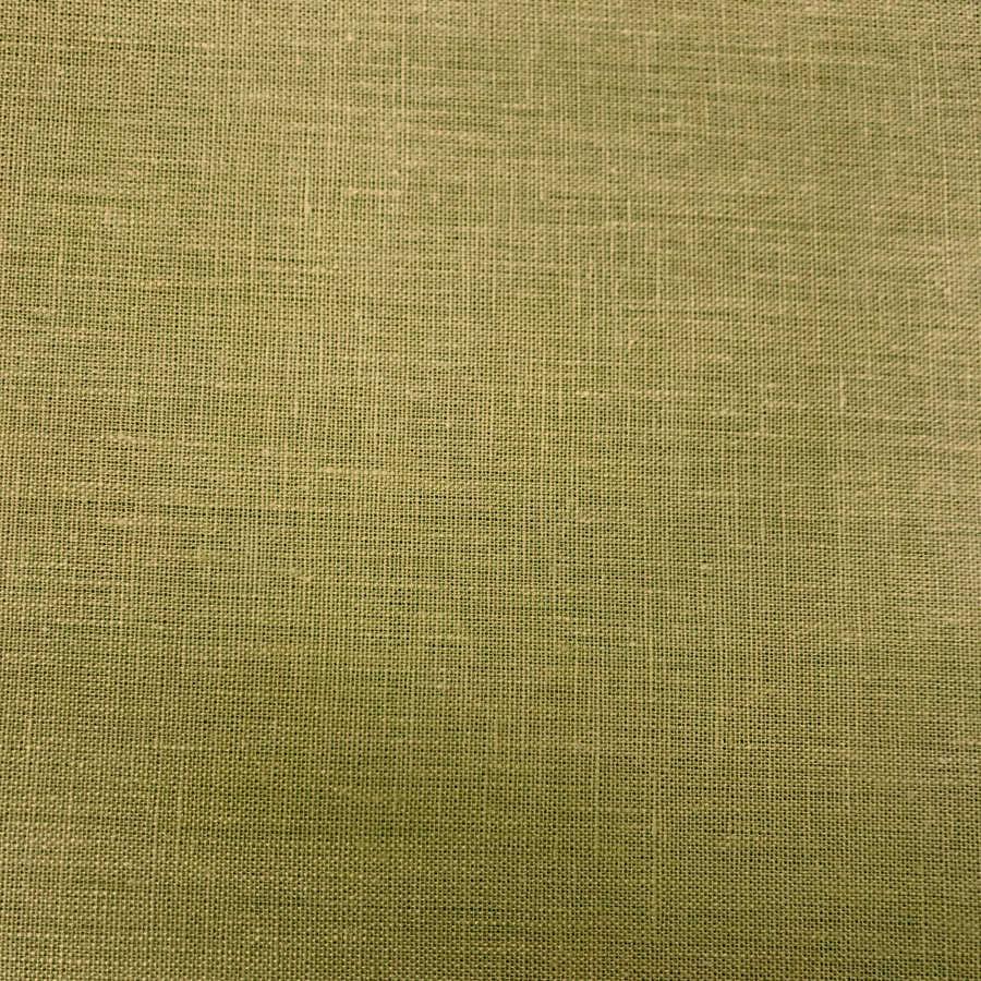 100% Льняная ткань Горчичный цвет 3