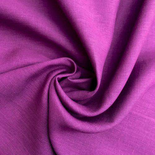 Льняные ткани - 100% Льняная ткань Амарантовая
