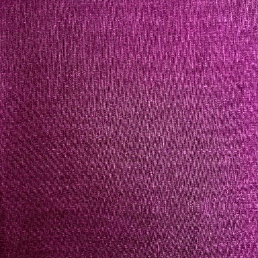 100% Льняная ткань Амарантовая 2