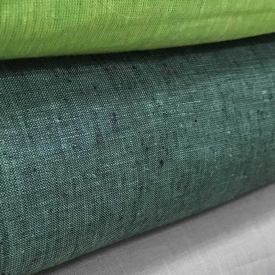 100% Льняная ткань Темно-Оливковая 3