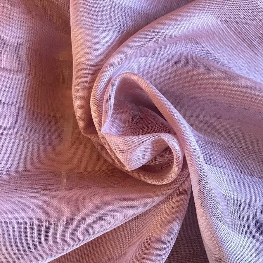 100% Льняная тюлевая ткань Пепельная Роза 1