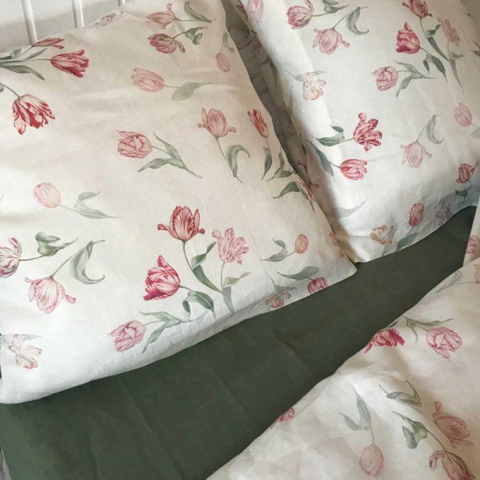 Комплект постельного белья из льна Поле Тюльпанов 3