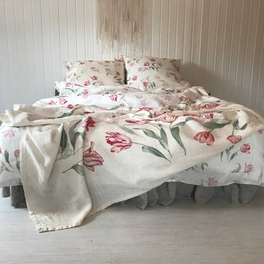 Комплект постельного белья из льна Поле Тюльпанов 4
