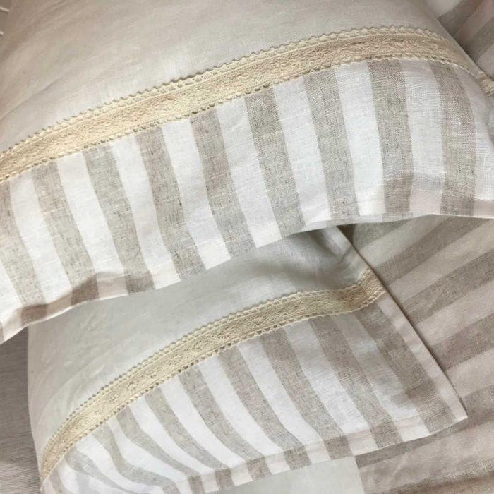 Льняная ткань Латте 2 х 2 - бельё с кружевом