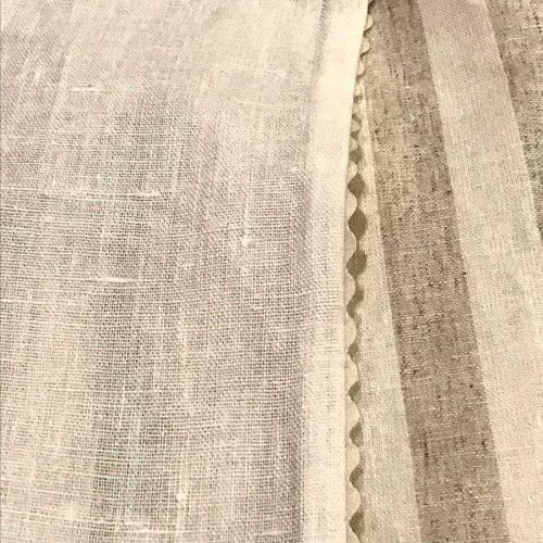 Льняные ткани - Латте 4 х 4 - шторы в полоску